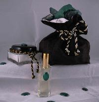 Malachite Eau de Parfum, Creme Souffle, and Packaging